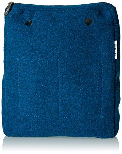 O bag sacca chic feltro, borsa a mano donna, blu (ottanio), 29x33x10.5 cm (w x h x l)