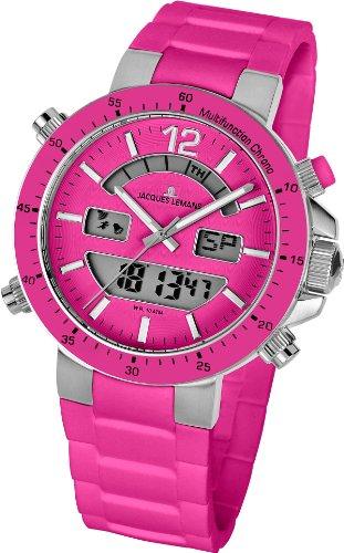 Jacques Lemans Unisex-Armbanduhr Milano Analog - Digital Silikon 1-1712I