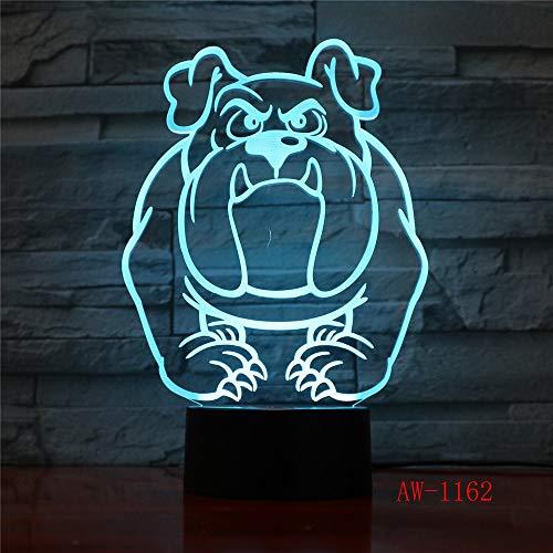 3D Visuelle Illusion Lampe Bulldog Pudel Jack Russell Terrier Rottweiler Dobermann LED Kinder Nachtlicht Hund Schreibtischlampe Lampe