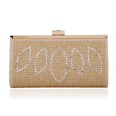 Woman Fashion Die geometrische Diamanten Abend Tasche Gold