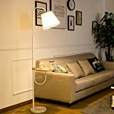 CRR Stehlampe Wohnzimmer Sofa Licht Schlafzimmer Nachttischlampe Couchtisch Lampe E27 7W (Farbe : LED Warm Light 8W)