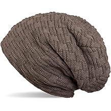 4add706c6802 styleBREAKER Chaud Bonnet de Fin Tricot Motif de Tresse Doublure en Polaire  très Doux, Toque