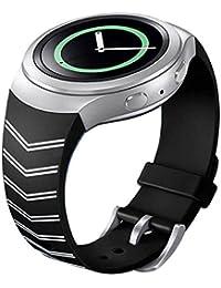 Samsung Galaxy Gear S2 SM-R720 correas para reloj, Sannysis correas de Silicona para relojes, color negro