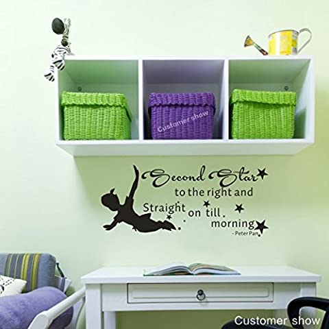 mairgwall bébé Sticker Peter Pan Silhouette Art Stciker Star Decor