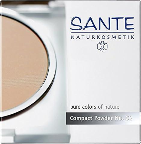 Sante - Poudre Compacte - Effet anti-âge Matifie le teint - Couleur 02 - Vegan, Certifié Bio