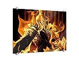 Klebefieber Spritzschutz Wärmende Feuerstelle B x H: 80cm x 60cm