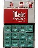 #10: Billiedge Master Billiard Snooker and Pool Chalk 12Pcs Green