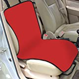 House of Quirk Pet/Dog Single Car Seat Protection Cover - Red