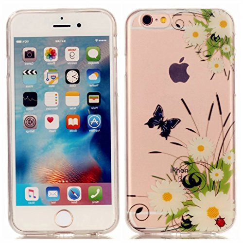 iPhone 6 6S 4.7' Cover Cristallo Custodia Case Silicone Ultra Sottile Cassa Caso Bumper Housing conchigliaTrasparente Morbido TPU Gel Shell guscio JINCHANGWU Anti-Graffio Antiurto-- Lunicorno lovely  Ad10