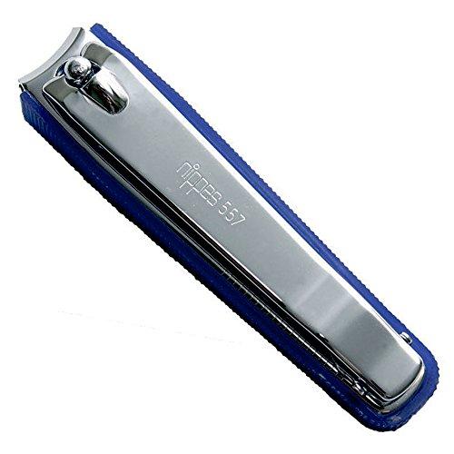 Nippes Solingen Nagelknipser mit Nagelsammler, 557E, zum Schneiden, Reinigen & Feilen, hochwertiger gehärteter Stahl, in Deutschland hergestellt, 8 cm