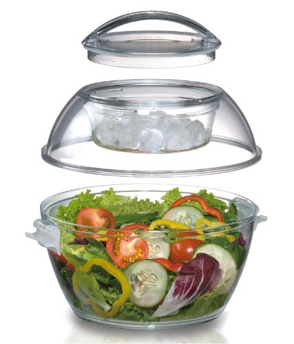 Prodyne ICED Up Salad to Go Carry und Servieren Schüssel (Holiday Bowl Fruit)