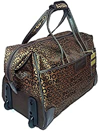 Must Visit Solid Multipurpose Duffle Luggage Bag With Two Wheels / Travelling Bag