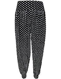 Neuen Frauen Tupfen Printed Leggings Plus Size Harems-Hose 40-58