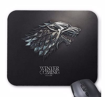 Game of Thrones Steel Logo Desktop Computer Mouse Mat Pad Rectangular 5mm Thick