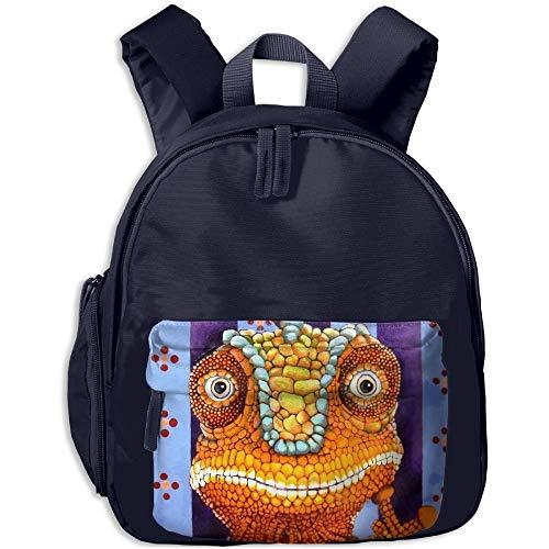 ADGBag Children's Green Lizard Print Children's Fashion Backpack Bookbag Schoolbag Shoulders Bag for Kids Kinder Rucksack (Lizard Geldbörse)
