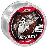 Angelschnur JAXON MONOLITH PREMIUM 150m / 0,10mm-0,35mm Spule Einzelschnüre Monofile NEU&OVP (0,02€/m) (0,22mm / 11kg)