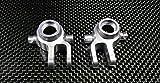 Traxxas Slash 4X4 / Stampede 4X4 VXL / Deegan 38 Fiesta ST Rally Tuning Teile Aluminium Front Knuckle Arm - 1Pr Set Silver