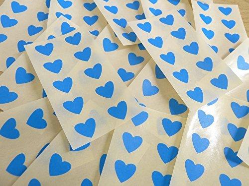 13x12mm Azul Medio Con Forma De Corazón Etiquetas, 130 auta-Adhesivo Código De Color Adhesivos, adhesivo Corazones para Manualidades y Decoración