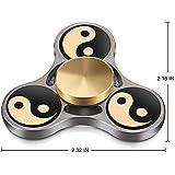 TOOBOM Fidget Spinner Rodamiento Premium Construcción Duradera Impresión no-3D Hacer Girar Suavemente Mucho Tiempo Juguete Fidget Reductor de Tensión de Alivio Spinner Silencioso de Mano (BZ_TAIJI)