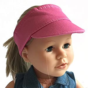 The New York Doll Collection- Pink muñecas de 45 cm-Sun Visor Hat se Adapta a American Girl Dolls-Doll Clothing Cap (D228)