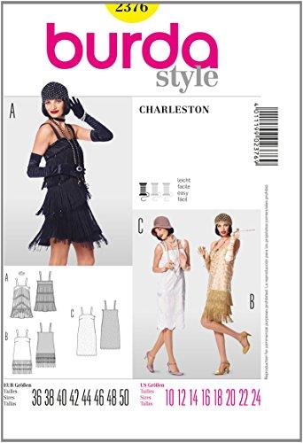 Burda B2376 Patron de Couture Charleston 19 x 13 cm