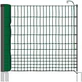 25 m Hühnerzaun, Geflügelzaun, Geflügelnetz, Kleintiernetz, 112 cm, 9 Pfähle, 2 Spitzen, grün von VOSS.farming farmNET