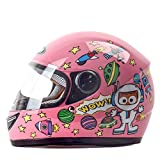 BHJqsy Kinderhelm Winter Windproof Warm Cartoon Junge Mädchen Full Face Helm (Farbe : Pink)
