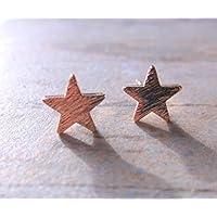 Rose Gold Plate Star Stud Earrings