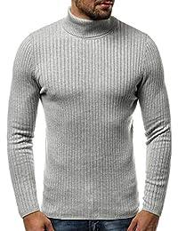 OZONEE Herren Rollkragenpullover Strickpullover Pullover Feinstrick  Sweatshirt Pulli… bca1cf78cd