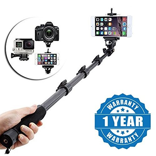 Drumstone QT-588 Bluetooth Monopod Selfie Stick for All Phones (Color may vary)