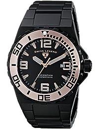 Swiss Legend Men's Black Steel Bracelet Sapphire Crystal Watch 10008-BB-11-RA