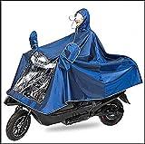 IBLUELOVER Electric Bike Raincoat,Motorcycle Poncho Waterproof Mobility Scooter Rainwear Rain Cape Jackt Cover Hoodie Coat with Reflective Strips,Universal Weatherproof Rain Gear for Men Women