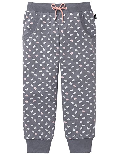 Schiesser Mädchen Schlafanzughose Mix & Relax Jerseypants 3/4, (Grau 200), 140