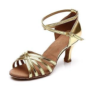 SWDZM Mujer Zapatos de Baile/Estándar de Zapatos de Baile Latino Satén Ballroom modelo-ES-213