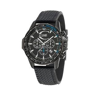 Just Cavalli R7271693025 – Reloj Unisex de Cuarzo, Correa de Silicona Color Negro