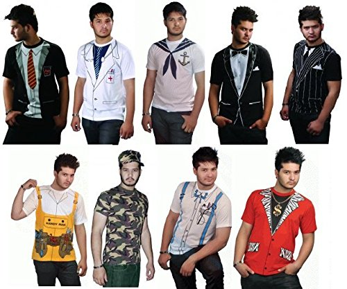 Vogueland Mens Funny Printed T-Shirt Fancy Dress Party Costume T-Shirt New Designs size s-xxl