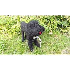 Kotbeutelspender aus Filz – Pudel – Labradoodle – Gassitasche -Kottüten – Geschenkidee für Hundebesitzer