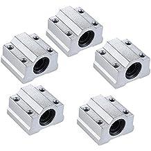 Aibecy SCS8UU Rodamiento de bolas de movimiento lineal Bloque CNC Router Slide Unidad Accesorios de Reprap 3D Impresora DIY 5pcs