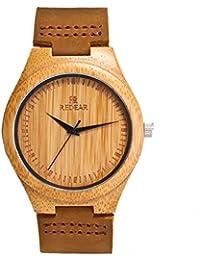 ec580528ded1 Reloj de Madera de Bambú para Hombre