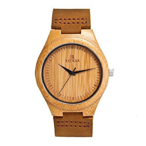 Reloj de Madera de Bambú para Hombre, Yowao...