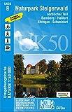 UK50-8 Naturpark Steigerwald nördlicher Teil: Bamberg, Haßfurt, Kitzingen, Schweinfurt, Volkach, Zell a.Main, Baunach, Schlüsselfeld, Prichsenstadt, ... Karte Freizeitkarte Wanderkarte)