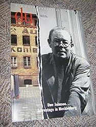 Du. Die Zeitschrift der Kultur. Heft Nr. 10, Oktober 1992. Uwe Johnson. Jahrestage in Mecklenburg
