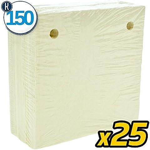 25 PZ - 700-950 gr/mq K150 - OLIO - CARTONI FILTRANTI 20X20 - 2 FORI