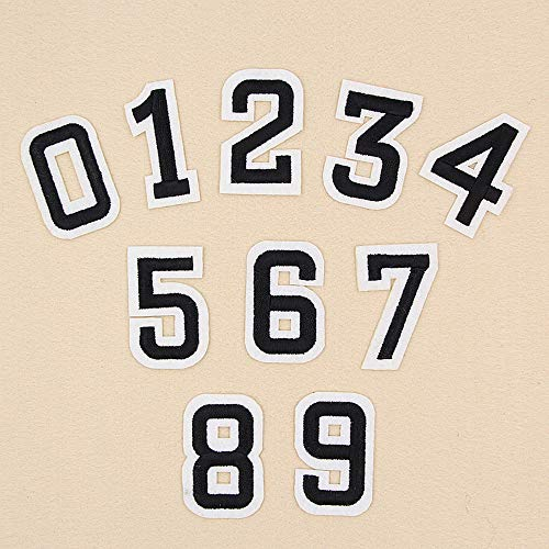 10Pcs Nummer 0-9 Patches Set Eisen auf Sewing Flecken Abbildung Applikationen DIY Fertigkeit Dekorative Aufnäher Abzeichen Aufkleber -