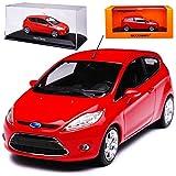 alles-meine GmbH Ford Fiesta JA8 3 Türer Rot 7. Generatinon 2008-2017 1/43 Minichamps Maxichamps Modell Auto mit individiuellem Wunschkennzeichen