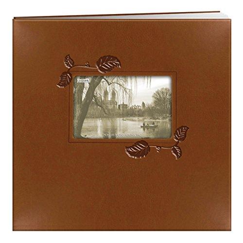 Pioneer 12x 12Zoll braun mit Ivy geprägt-Post Bound Album, mehrfarbig 12x12 Pioneer Fotoalben