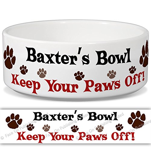 baxters-bowl-keep-your-paws-off-personalised-name-ceramic-pet-food-bowl-155mm-x-60mm-small