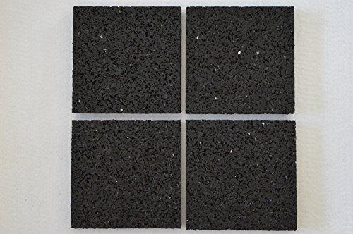 4 Pads/Stück in 8mm / 80x80 mm Schwingungsdämpfer, Dämpfungspads, Waschmaschinenunterlage