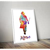 Harry Potter inspirierte Aquarell Poster - Professor Snape - Hogwarts - Zitat - Alternative TV / Movie Prints in verschiedenen Größen (Rahmen nicht im Lieferumfang enthalten)