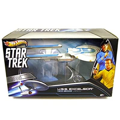 Hot Wheels Collector Star Trek U.S.S. Excelsior NCC-2000 Die Cast de Hot Wheels